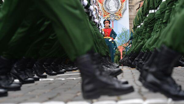 Вайскоўцы парадных разлікаў на ваенным парадзе ў Маскве - Sputnik Беларусь