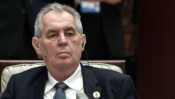 Президент Чехии Милош Зема - Sputnik Беларусь