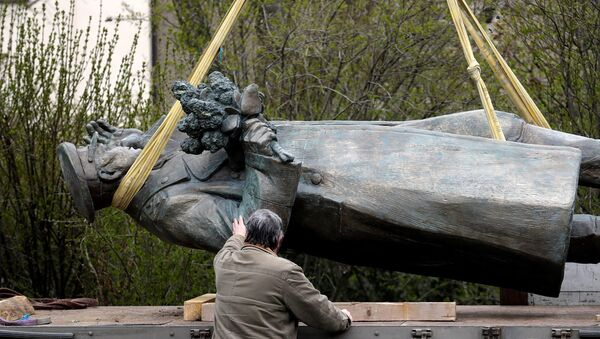 Снос памятника Коневу в Праге - Sputnik Беларусь