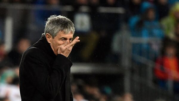 Главный тренер испанской Барселоны Кике Сетьен - Sputnik Беларусь
