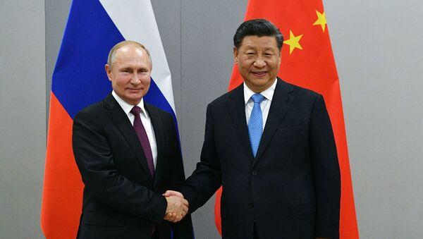 Президент РФ Владимир Путин и председатель Китайской Народной Республики (КНР) Си Цзиньпин - Sputnik Беларусь