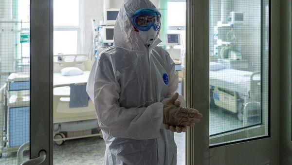 Стацыянар для лячэння тых, хто заразіўся каронавірусам - Sputnik Беларусь