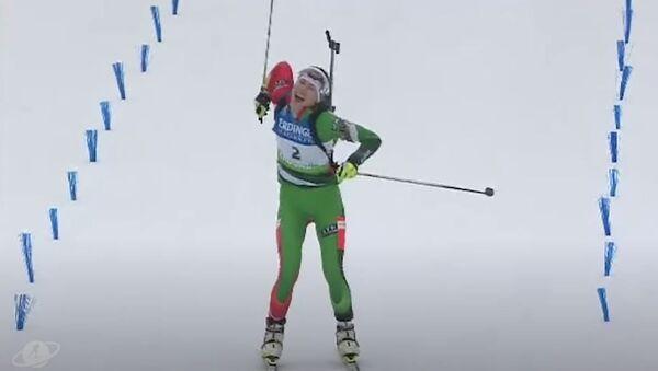 Дарья Домрачева выбрала самую яркую победу в карьере, видео - Sputnik Беларусь