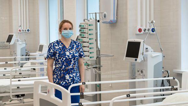 Палата ў стацыянары для прыёму пацыентаў з каронавіруснай інфекцыяй - Sputnik Беларусь