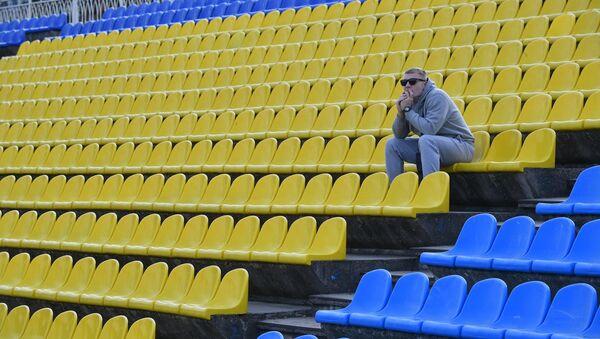 Болельщик перед матчем на стадионе Борисов-Арена - Sputnik Беларусь