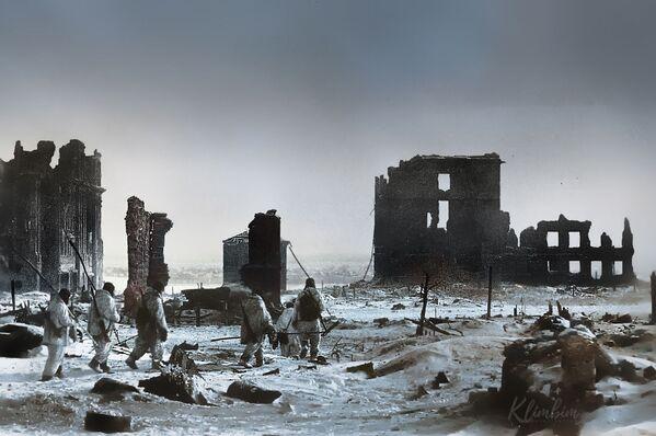 Цэнтр горада Сталінграда пасля вызвалення ад нямецка-фашысцкіх захопнікаў. - Sputnik Беларусь