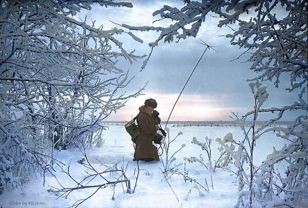 Наладжванне сувязі на перадавой. 1941 год. - Sputnik Беларусь