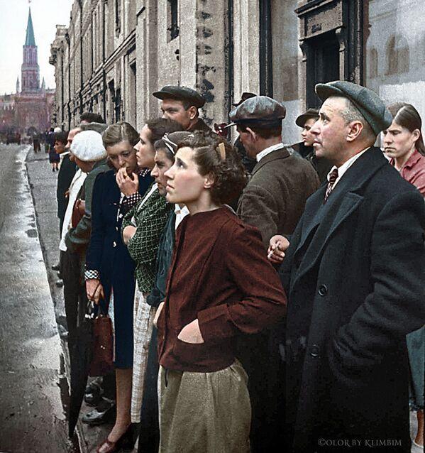 22 чэрвеня 1941 года. Аб'ява аб пачатку Вялікай Айчыннай вайны. Масква. - Sputnik Беларусь