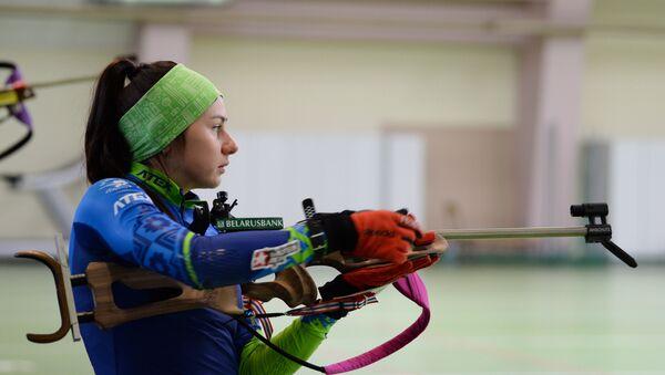 Белорусская биатлонистка Ирина Кривко - Sputnik Беларусь