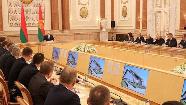 Совещание президента с новым составом правительства - Sputnik Беларусь
