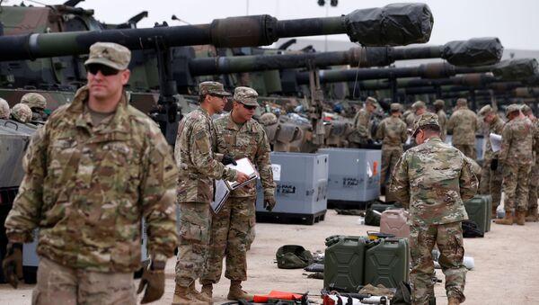 Развертывание войск США для военных учений в тренировочном районе Дравско-Поморске в Польше - Sputnik Беларусь