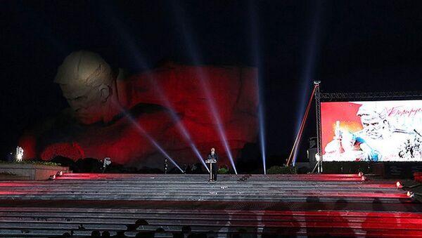 Аляксандр Лукашэнка падчас выступу ў Брэсцкай крэпасці - Sputnik Беларусь