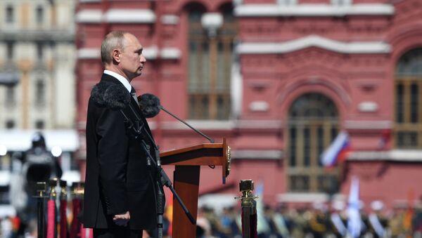 Президент РФ В. Путин принял участие в военном параде в ознаменование 75-летия Победы - Sputnik Беларусь
