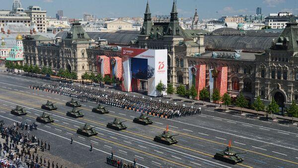 Ваенны парад у азнаменаванне 75-годдзя Перамогі на Чырвонай плошчы - Sputnik Беларусь