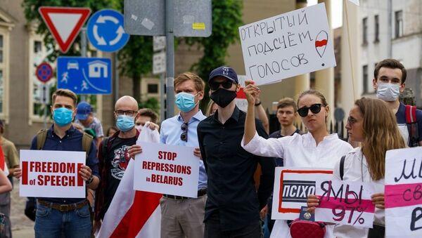 Пикет в Риге - Sputnik Беларусь