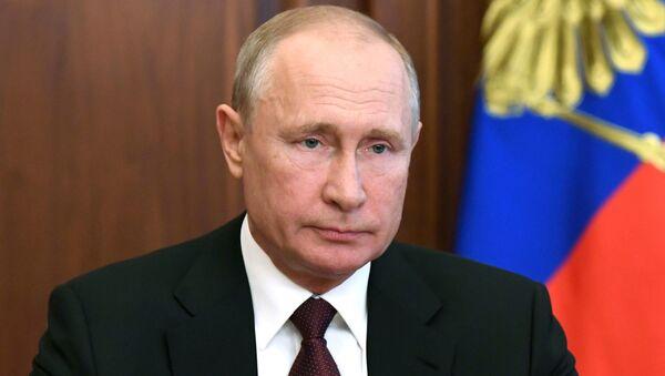 Пуцін выступіў са зваротам да расіян - Sputnik Беларусь