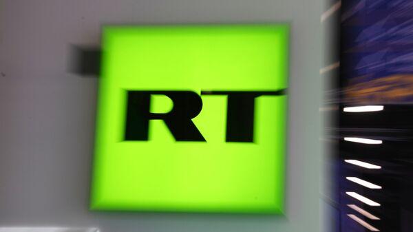 Лагатып тэлеканала RT (Russia Today) - Sputnik Беларусь